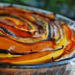 Tarta warzywna z kolorowych pasków
