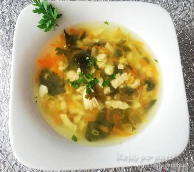 Delikatna zupa jarzynowa z zacierkami