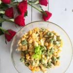 Sałatka z selerem naciowym i kukurydzą
