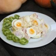 Ziemniaczana sałatka z przepiórczymi jajkami