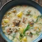 Zupa koperkowa z białą kiełbasą
