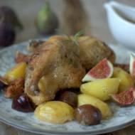 Kaczka pieczona z figami i ziemniakami