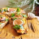 Pieczone bataty z serem pleśniowym i figą