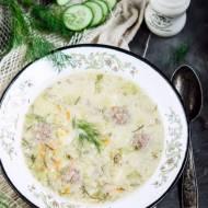 Zupa ze swiezych ogorkow z serkiem topionym