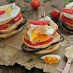 Grzanki z bakłażanem i jajem
