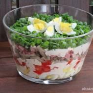 Sałatka z jajkami i sosem musztardowym