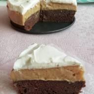 Ciasto kakaowe z budyniem, bez pieczenia