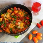 Warzywa z patelni z sadzonym jajkiem - szakszuka po mojemu