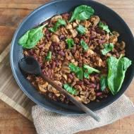 Fasola z grzybami – przepis na sycącą obiado – kolację.