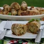 Gołąbki z kaszą kuskus pełnoziarnistą i brokułem na ostro