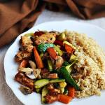 Warzywa pieczone z kurczakiem