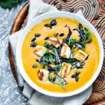 Zupa z pieczonych warzyw i kokosowego mleka