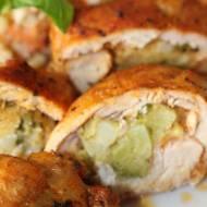 Roladki z udka kurczaka z brokułem i serem