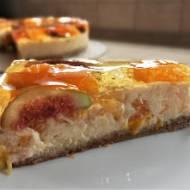 Sernik z mandarynkami i figami