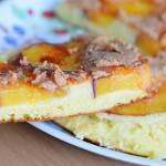 Bezglutenowy omlet z brzoskwinią :)