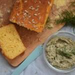 Przepis #175 Kukurydziano-ryżowy chleb (bez glutenu) + wegańska pasta z ogórkiem