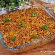 Zapiekanka ryżowa z soczewicą i dynią