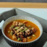 Zupa krem z dyni z grzankami i pestkami