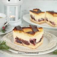 ciasto drożdżowe z serem i śliwkami
