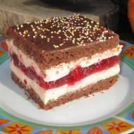 Ciasto Pożegnanie Lata-z kremem i malinami