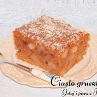 Szybkie ciasto z gruszkami i rodzynkami