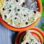 Ananasowo - porzeczkowy tort bez pieczenia