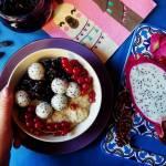 Quinoa na mleku z tonką i owocami