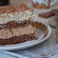 Ciasto czekoladowo - budyniowe z kremem stracciatella