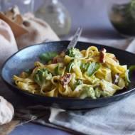 Makaron z brokułami w sosie z serem pleśniowym / Broccoli and blue cheese sauce pasta