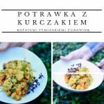 Potrawka z kurczakiem, batatem, tymiankiem i żurawiną
