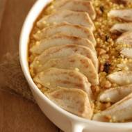 Pieczona jaglanka z gruszkami i masłem orzechowym