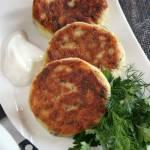 Ziołowo-czosnkowe  kotleciki z gotowanych ziemniaków