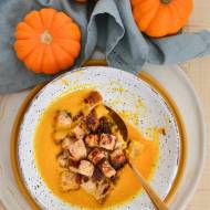 Podstawowy przepis na zupę krem z pieczonej dyni i czosnku
