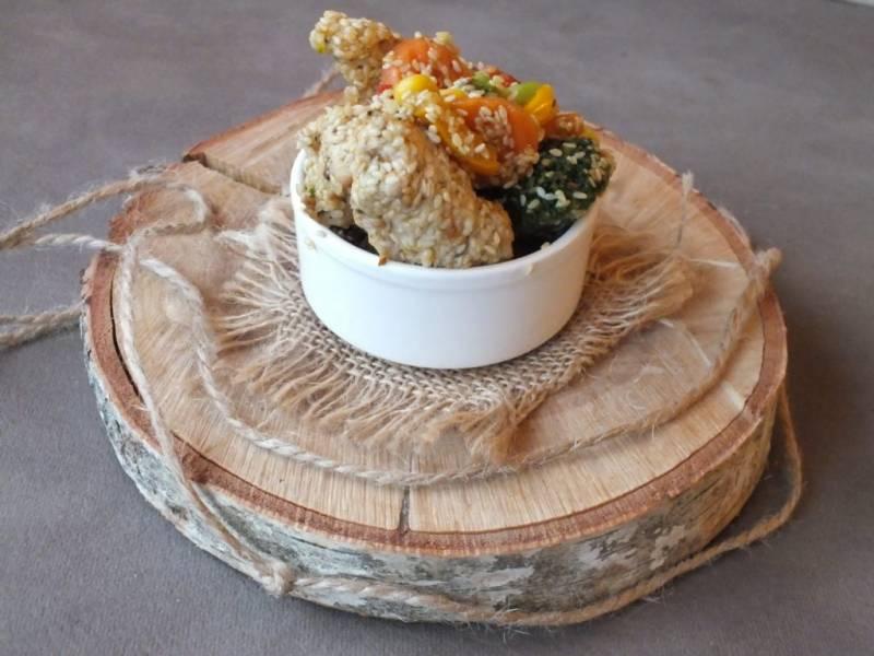 Sezamowy kurczak z warzywami