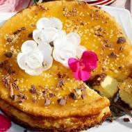 Sernik marakuja z galaretką pieczony z kremówki i serka mascarpone