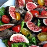 Sałatka z wątróbką i figą