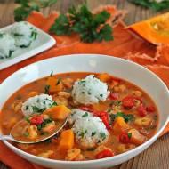 Tajska zupa z dynią i krewetkami