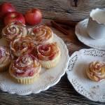 Francuskie różyczki z jabłkami i cynamonem