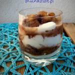 Kakaowa szarlotka w kubeczku czyli szybki fit deser