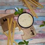 Pieczarkowa zupa krem (do picia) z pysznymi grissini
