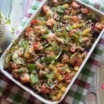 Zapiekanka z kulkami mięsnymi i warzywami