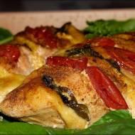 Nadziewany Filet z Kurczaka z Pomidorem i Mozzarellą