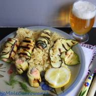 Grillowane roladki z łososiem