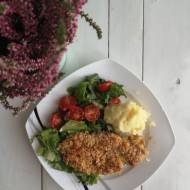 Kurczak w panierce z płatków owsianych i sezamu
