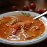 Ekspresowa zupa pomidorowa, resztkach :)