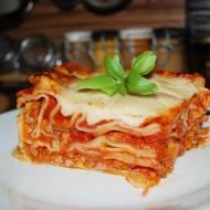 Lasagne po bolońsku z cukinią