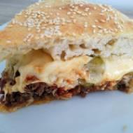 Ciasto cheeseburger z tortownicy XXL