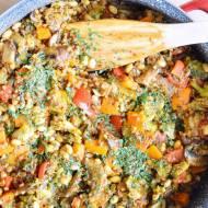 Kaszotto z warzywami i soją - wegańskie, bezglutenowe :)