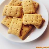 Krakersy z mąką z czerwonej soczewicy i z mąką z sorgo ( bez glutenu )