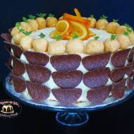 Tort pomarańczowy z truflami